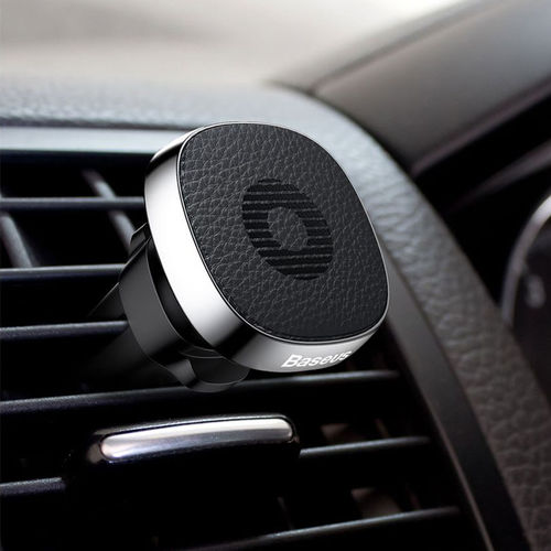 Baseus Privity Pro Leather Magnetic Car Air Vent Mount & Phone Holder